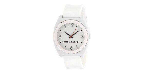 Dámské bílé hodinky Miss Sixty s kulatým analogovým ciferníkem