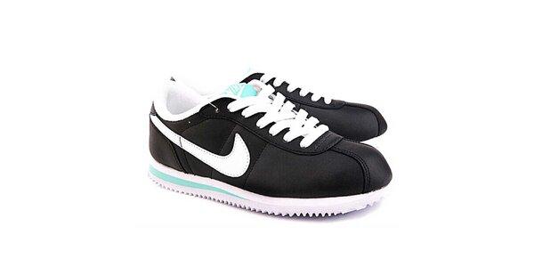 Dámské černo-bílé tenisky s modrými detaily Nike