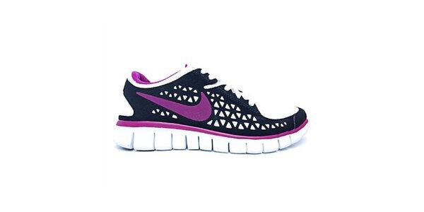 Dámské fialovo-černé běžecké boty Nike