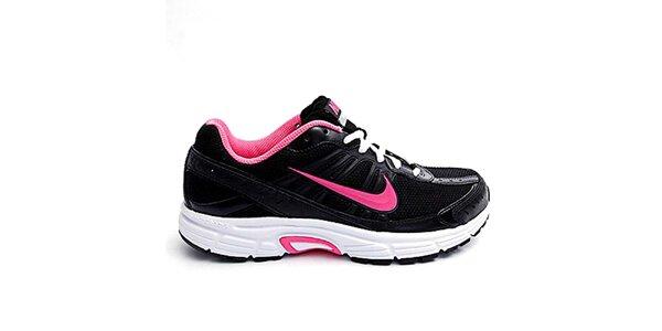 Dámské černo-růžové běžecké tenisky Nike