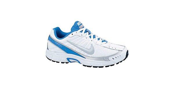 Dámské bílo-modré běžecké tenisky Nike