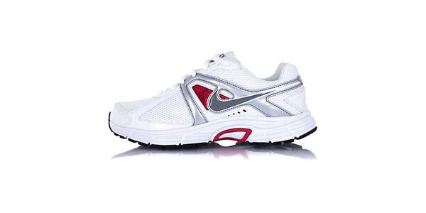 Dámské bílo-stříbrné běžecké boty Nike