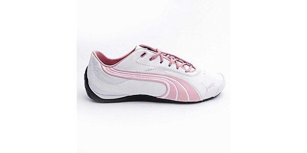Dámské bílo-růžové sportovní boty Puma