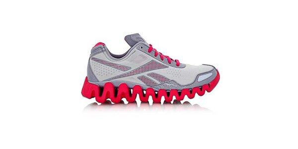 Dámské šedo-růžové běžecké boty Reebok