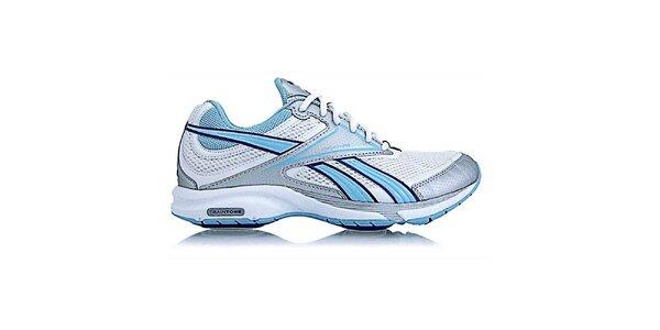 Dámské bílo-modro-stříbrné fitness boty Reebok