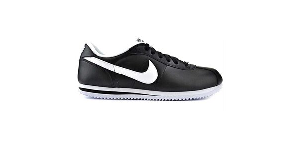 Pánské černé kožené tenisky Nike