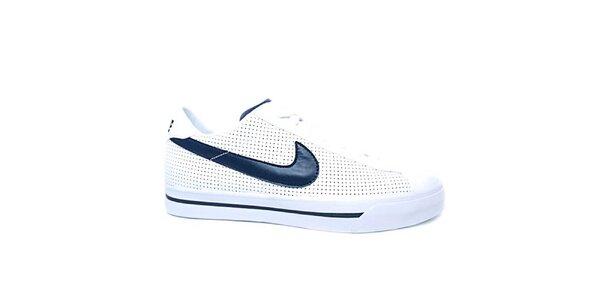 Pánské modro-bílé kožené tenisky Nike