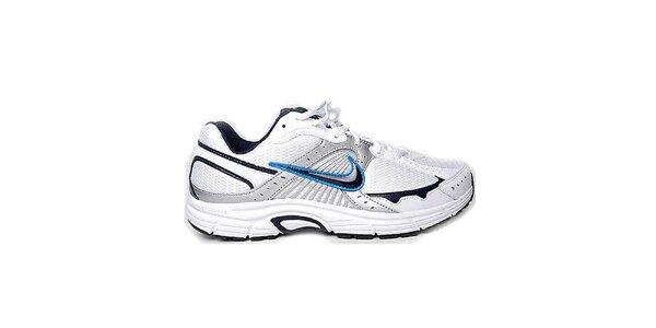 Pánské bílo-šedé běžecké tenisky Nike