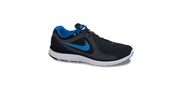 Pánské černo-modré odlhčené tenisky Nike