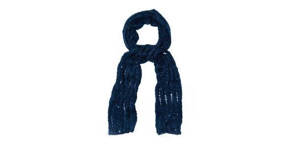 Dámská tmavě modrá pletená šála Bella Rosa
