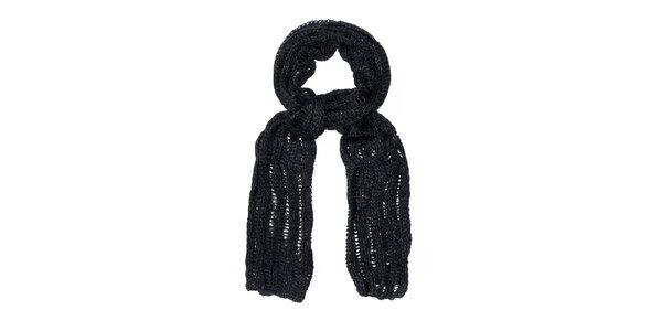 Dámská černá pletená šála Bella Rosa