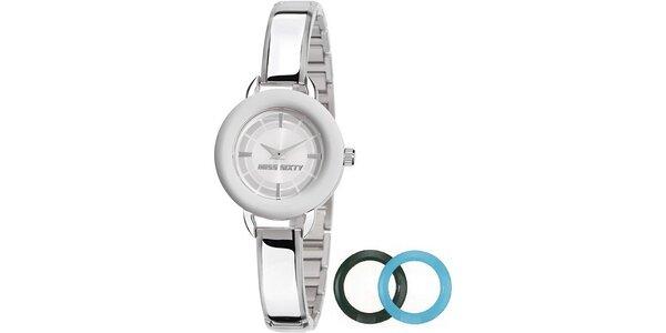 Dámské stříbrno-modré hodinky Miss Sixty