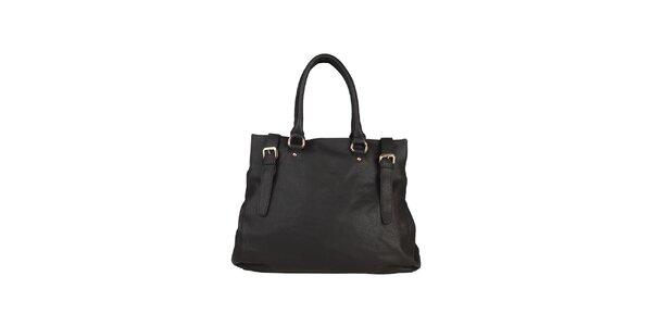 Dámská černá kabelka s pásky Dudlin