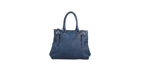 Dámská tmavě modrá kabelka s pásky Dudlin