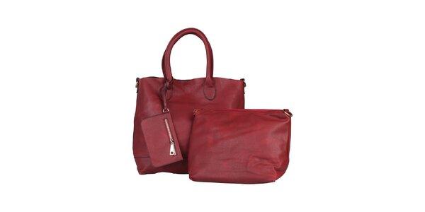 Dámská červená kabelka s vyjímatelnou taštičkou Dudlin
