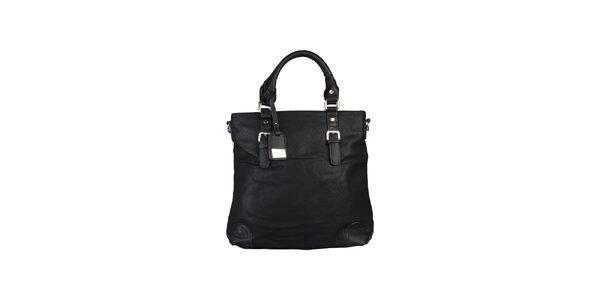 Dámská černá kabelka s kontrastními rohy Dudlin