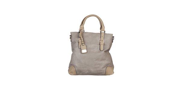 Dámská šedo-béžová kabelka s kontrastními rohy Dudlin