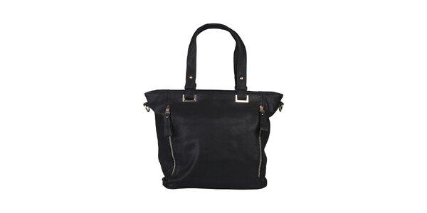 Dámská černá kabelka s postranními zipy Dudlin
