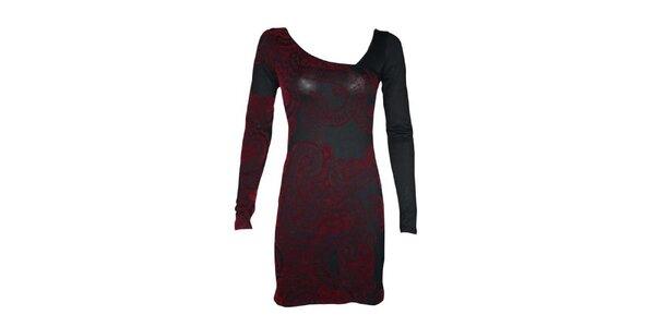 Dámské šedo-červené šaty Smash