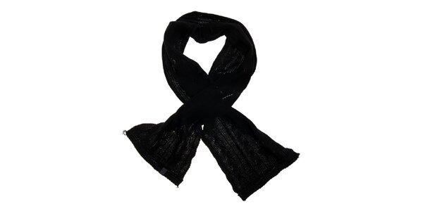 Dámská černá pletená šála Loap