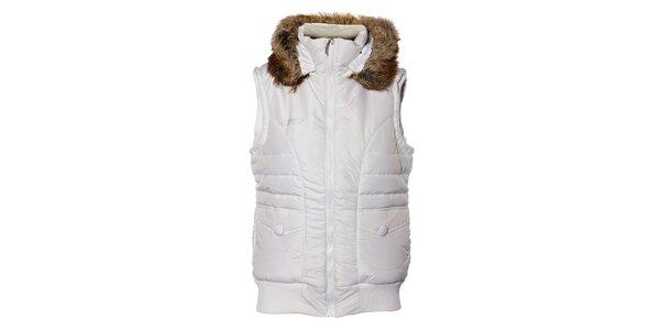 Dámská bílá prošívaná vesta Loap