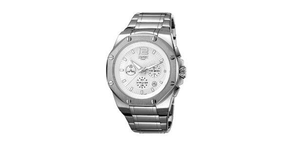 Pánské stříbrné hodinky s ocelovým řemínkem Esprit
