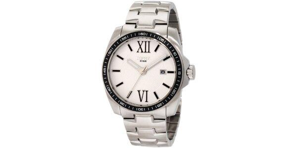 Pánské stříbrné hodinky římskými číslicemi Esprit