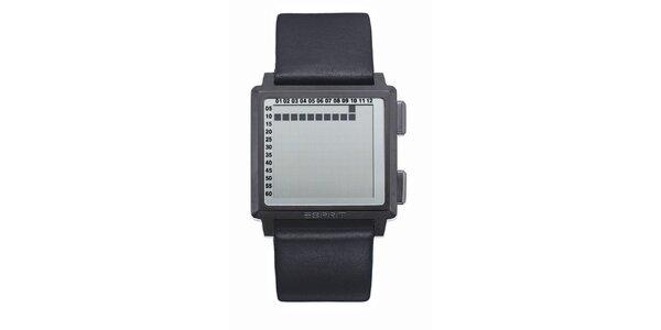 Pánské hranaté digitální hodinky Esprit s černým řemínkem
