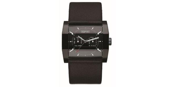 Pánské černé analogové hodinky Esprit
