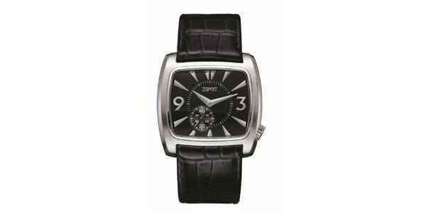 Pánské stříbrné zaoblené hodinky Esprit
