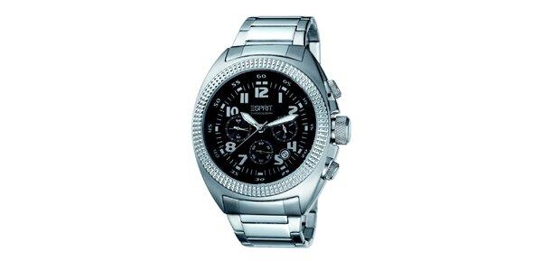 Pánské stříbrné hodinky s ozdobným pouzdem Esprit