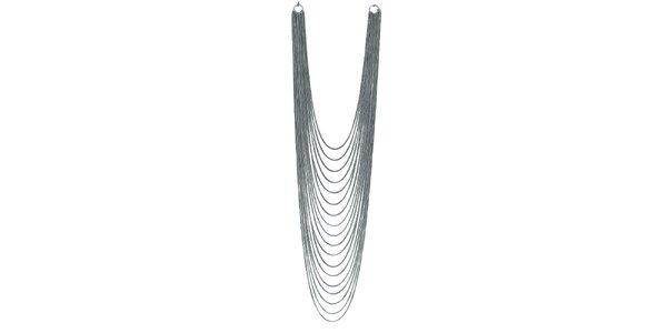 Dámský stříbrně tónovaný několikařadý náhrdelník Esprit