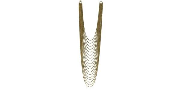 Dámský zlatě tónovaný několikařadý náhrdelník Esprit
