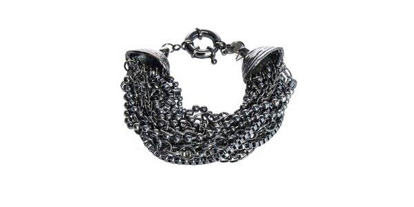 Dámský tmavě šedý opulentní náramek Esprit