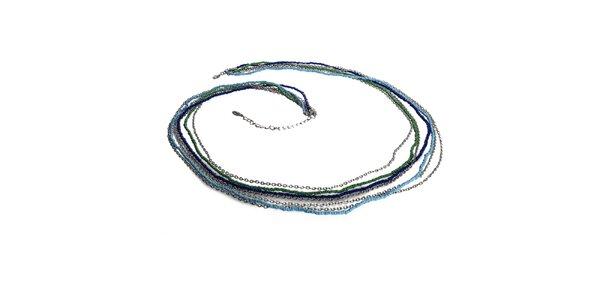 Dámský korálkový náhrdelník se stříbrným řetízkem Esprit