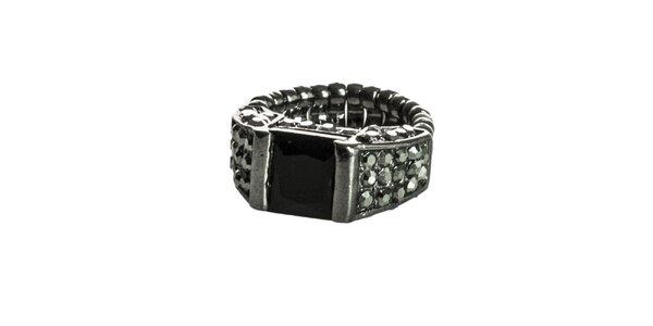 Dámský stříbrno-černý prsten Esprit