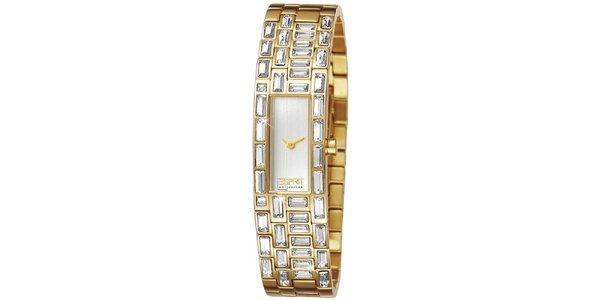 Dámské analogové hodinky s krystaly Esprit