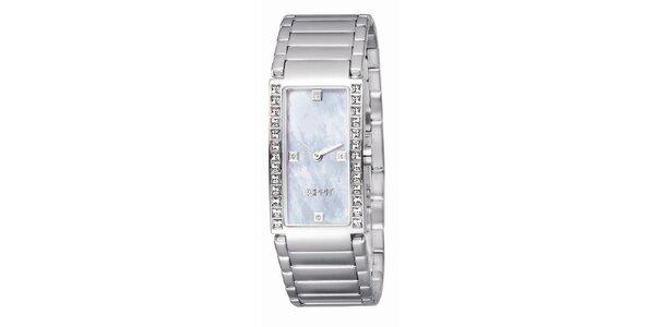 Dámské stříbrné hodinky s kamínky s Esprit