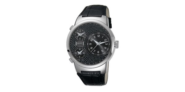 Dámské černo-stříbrné hodinky Esprit