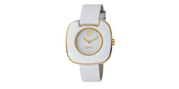 Dámské bílo-zlaté hodinky Esprit