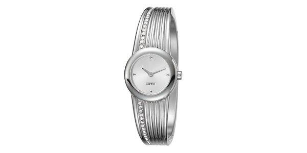 Dámské ocelové hodinky se sofistikovaným náramkem Esprit