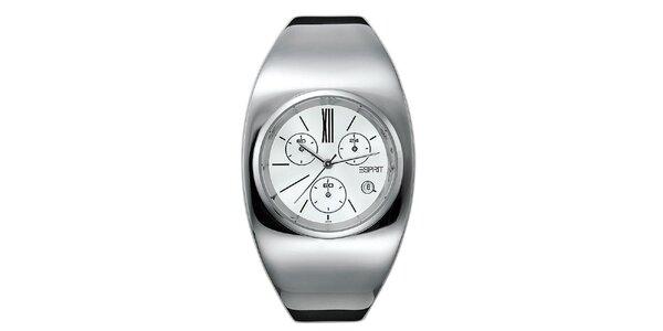 Dámské stříbrně tónované futuristické hodinky Esprit