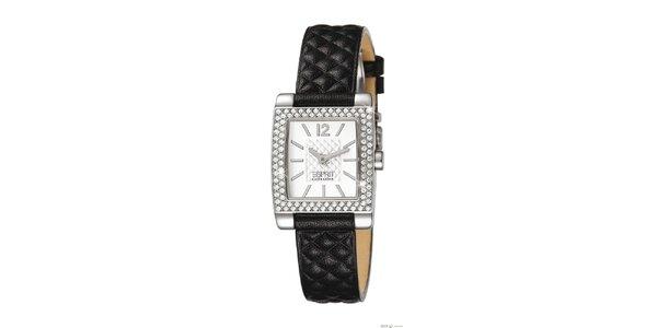 Dámské analogové hodinky s černým páskem Esprit