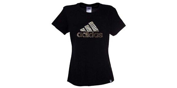 Dámské černo-zlaté triko Adidas