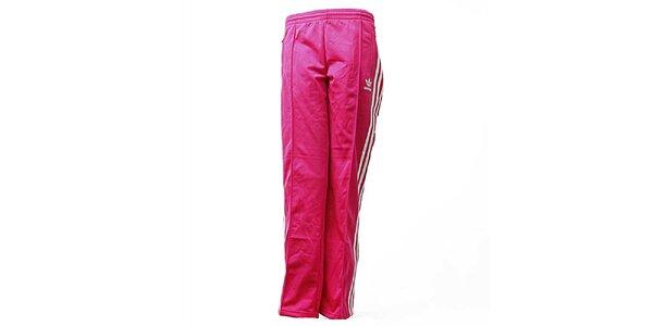 Dámské růžové sportovní kalhoty Adidas