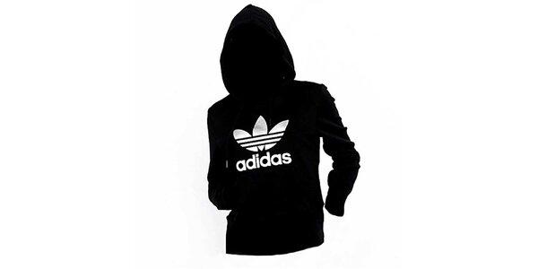 Dámská černo-stříbrná mikina Adidas
