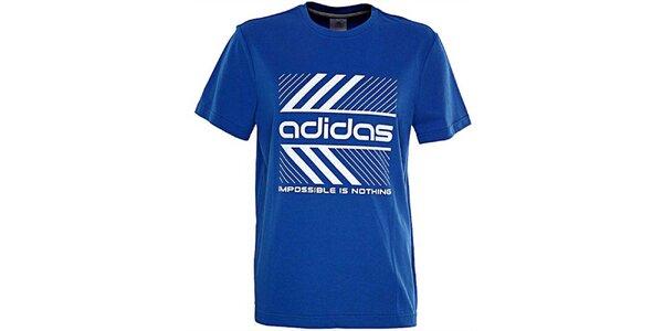 Pánské modré tričko Adidas