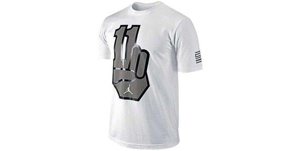 Pánské bílé tričko s potiskem Jordan