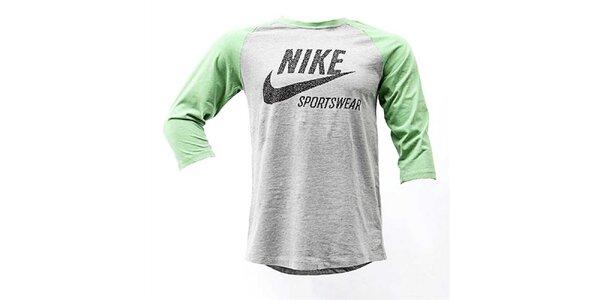 Pánské šedo-zelené triko Nike