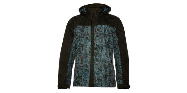Pánská jarní bunda Loap s modrým potiskem